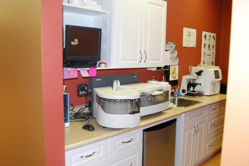 Counter with drawers at muskoka animal hospital